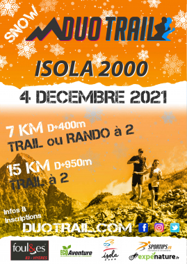 SNOW DUO TRAIL® MERCANTOUR   ISOLA 2000 HIVER : 7KM-15KM